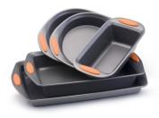 Rachael Ray Oven Lovin' Non-Stick 5-Piece Bakeware Set, Orange, New