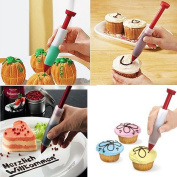 Silicone Cake Pen DIY Pastry Cookie Decorating Cream Syringe Pen Baking Tool DUK