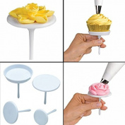4pcs, Cake Cupcake Stand Icing Cream Flower Nails Set Sugarcraft Decorating Tool