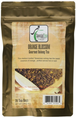 Special Tea 20 Piece Gourmet Oolong Tea Bags, Orange Blossom, 40ml