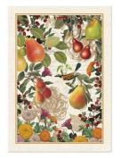 GOLDEN PEAR Cotton Kitchen Towel by Michel Design Works - Flowers Bird, Berries