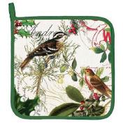 Michel Design Works WINTER'S TALE Christmas Potholder - Birds, Holly, Berries