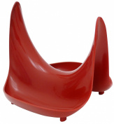 Hutzler Pot Lid Stand and Spoon Rest, Red