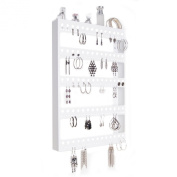 Large Wall Mount Earring Holder Hanging Jewellery Organiser Rack - SELECT TO SEE colours