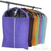 Non-woven Dust-proof Clothes Cover Suit Dress Garment Bag Storage Protector (Random Colour)