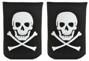 Funny Beer Coolie Skull Crossbones Pirate Jolly Roger 2 Pack Can Coolie Drink Coolers Coolies Black