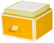 Semikolon Sticky Notes with 1-Drawer Caddy, Sun Yellow