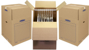 Bankers Box SmoothMove Wardrobe Box, 24 x 60cm x 100cm , 3 Pack