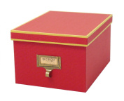 Cargo Atheneum Photo/Supply Box, Red, 5-1/2 by 25cm by 19cm