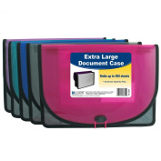 C-Line Extra Large Poly Document Case, Letter Size, 500-Sheet Capacity, 1 Case, Colour May Vary