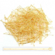 500 Hat Head Pin Part Anti Tarnish Brass Loop 21 Gauge
