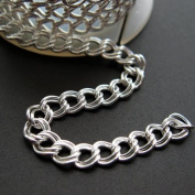Sterling Silver Chain - Double Twisted Oval Link