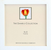 Square Corner GALLERY WOODS Bright White finish square 5x5 frame by Dennis Daniels - 5x5