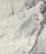 Vintage Knitting PATTERN to make - Baby Christening Gown Long Short Dress Lace. NOT a finished item. This is a pattern and/or instructions to make the item only.