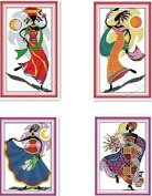 Happy Forever Cross Stitch, Figure, African amorous feelings 4 for a set