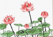 Greek Art Paintworks Paint Colour By Number Kit,Bloom Lotus,10cm by 15cm