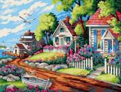 Greek Art Paintworks Paint Colour By Number,Dream Villa styleA,30cm by 41cm