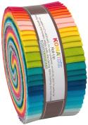 Kona Cotton Elizabeth Hartman Designer Palette Roll Up 40 Strips 6.4cm Jelly Roll Robert Kaufman Fabrics RU-340-40