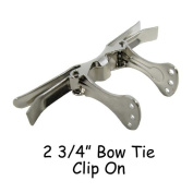 Bow Tie Clip On Hardware / Bow Tie Fasteners - 7cm - Qty 10
