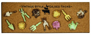 Manual Woodworkers and Weavers Vintage Push Pins, Gardening, Set of 12