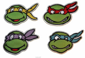 Teenage Mutant Ninja Turtles SET OF FOUR Characters Embroidered PATCHES