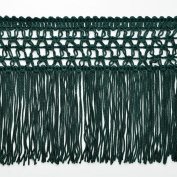13cm HUNTER GREEN Knotted Chainette Fringe for Home Deco, Lamp Shade, Costume by 1 yard, SP-2167