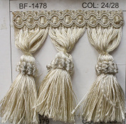 Beaded Tassel Fringe Trim 8.9cm Style# Bf 1478 24/28 Colour, Sold By the Yard