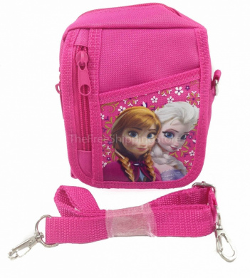 Disney Frozen Pink Queen Elsa and Princess Anna Camera Bag
