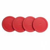 Home Air Hockey Red Replacement 6.4cm Pucks for Game Tables, Equipment, Accessories (4 Pack) by Super Z Outlet®