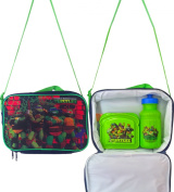 Teenage Mutant Ninja Turtles Children's Adjustable Shoulder Strap Lunch Box , Includes Teenage Mutant Ninja Turtles Sandwich Container and Pull-top Water Bottle