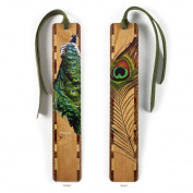 Peacock Wooden Bookmark with Tassel