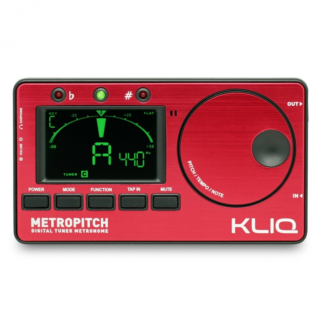 KLIQ MetroPitch - Metronome Tuner - with Guitar, Bass, Violin, Ukulele, and  Chromatic Modes - Tap Tempo - Tone Generator - Best for All Acoustic &