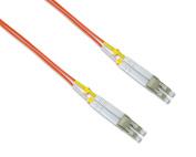 NavePoint LC-LC Fibre Optic Cable Duplex 50/125 Multimode 50M Orange