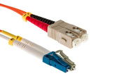 LC to SC Mode Conditioning 62.5/125 Fibre Patch Cable, 4 Metres - Lifetime Wty