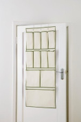 11 Pocket Over Door Shoe Organiser by H & L Russel - Taupe