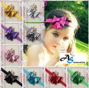 A & S Creavention® Baby Flower Blooming Chiffon Headband Bundle Set, Ribbon