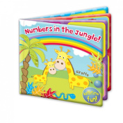 """First Steps"" Numbers In The Jungle Baby Floating Bath Book Educational & Fun Bath Toy for Babies"
