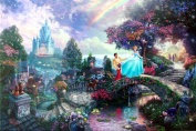 Cinderella Wishes Upon A Dream (Disney Dreams IV) Thomas Kinkade 18x 102.2lery Proof Limited Edition Lithograph on Paper
