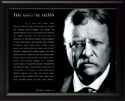Theodore Teddy Roosevelt the Man in the Arena Quote 8x10 Framed Picture