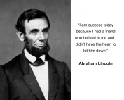 """Abraham Lincoln """"I am success today"""" Quote 8x10 Photo"""