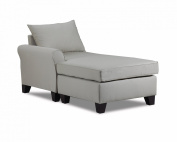 Carolina Accents Belle Meade Left Arm Chaise, Light Slate