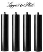 Leggett & Platt Adjustable Bed 28cm Inch Riser Legs, Set of 4, Black ...