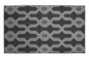 Jean Pierre Kat Textured Decorative Accent Rug, 70cm x 120cm Grey Multi