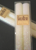 20cm Natural Beeswax Glitter Candles, White Lotus Colour, Boxed Set of 2