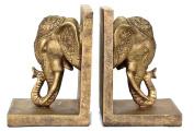 Bellaa Decorative Bookends Elephant Head Big Size Book Ends