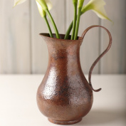 Los Olivos Copper Pitcher, Tempered Finish