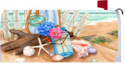 Custom Decor Beach Treasures Mailbox Cover