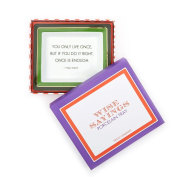 """Two's Company """"You Only Live"""" Tray in Gift Box"""