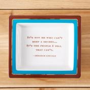 "Two's Company Wise Sayings Desk Tray, ""Secret"""