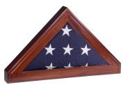 Display Case for Memorial Burial Flag (5x9 Flag) - Shadow Box